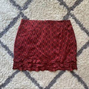 Satin Print Skirt